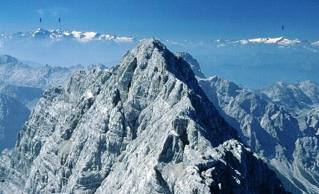 view from the Mittelspitze of...