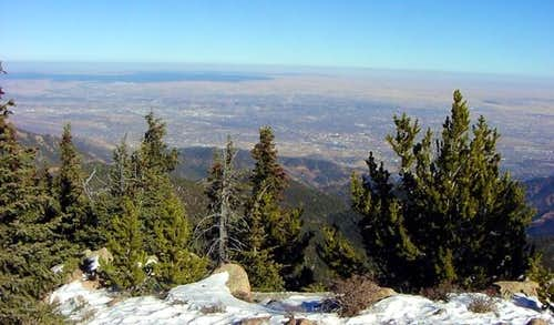 Colorado Springs from the...