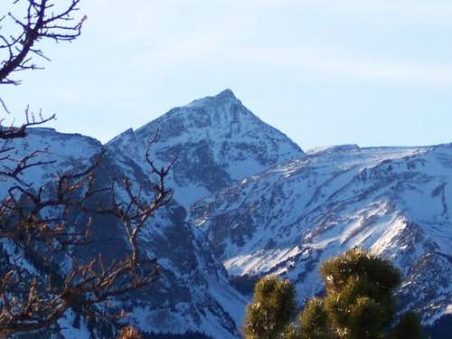 Zoom of Whitetail Peak as...