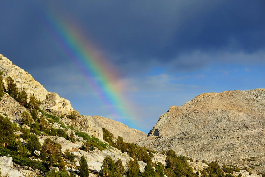 Rainbow over Puite Pass