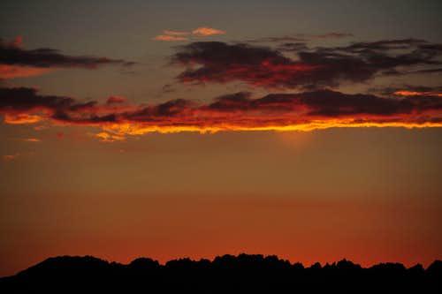 Sunset looking west near Summit Lake