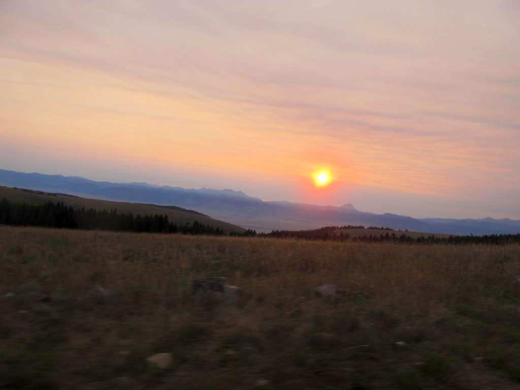 sunrise over the Madisons