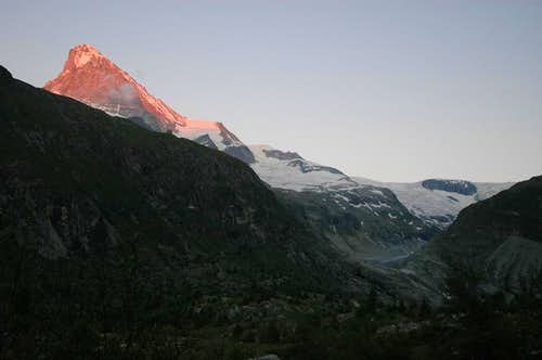 Dent Blanche during sunset