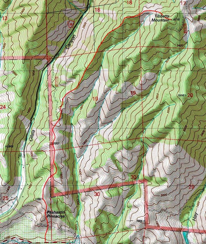 Tibbetts Topographic Map : Photos, Diagrams & Topos ...