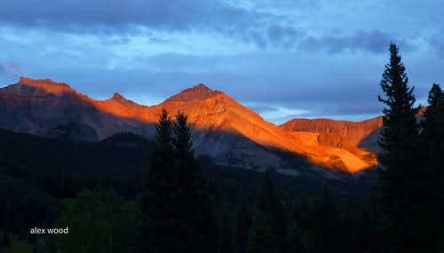 Alpenglow on the Vermilion Group