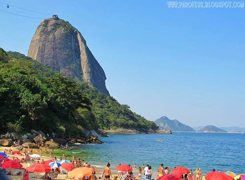 Pão de Açúcar (Sugar Loaf) from Urca beach