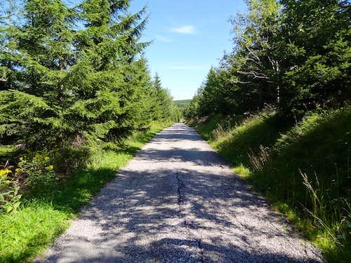 Malá Úpa road