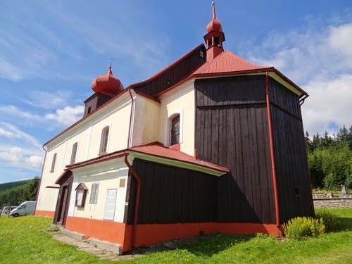 The Malá Úpa St. Petr and Pavel church