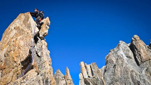 Georg on the summit of Pt. Chaubert.