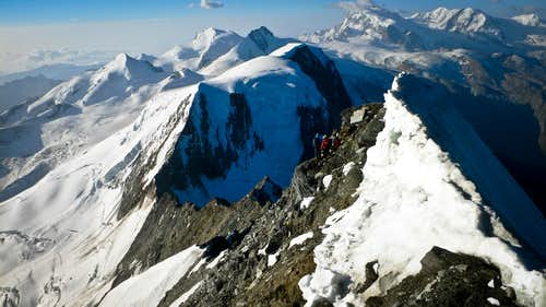 Halfway up the ridge