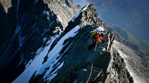 Careful downclimbing.