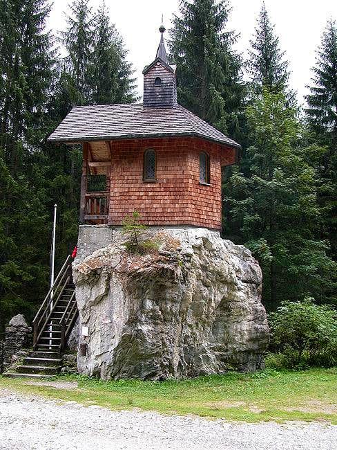 The little Hubertus Chapel in...