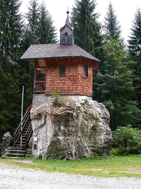 The little Hubertus Chapel in...