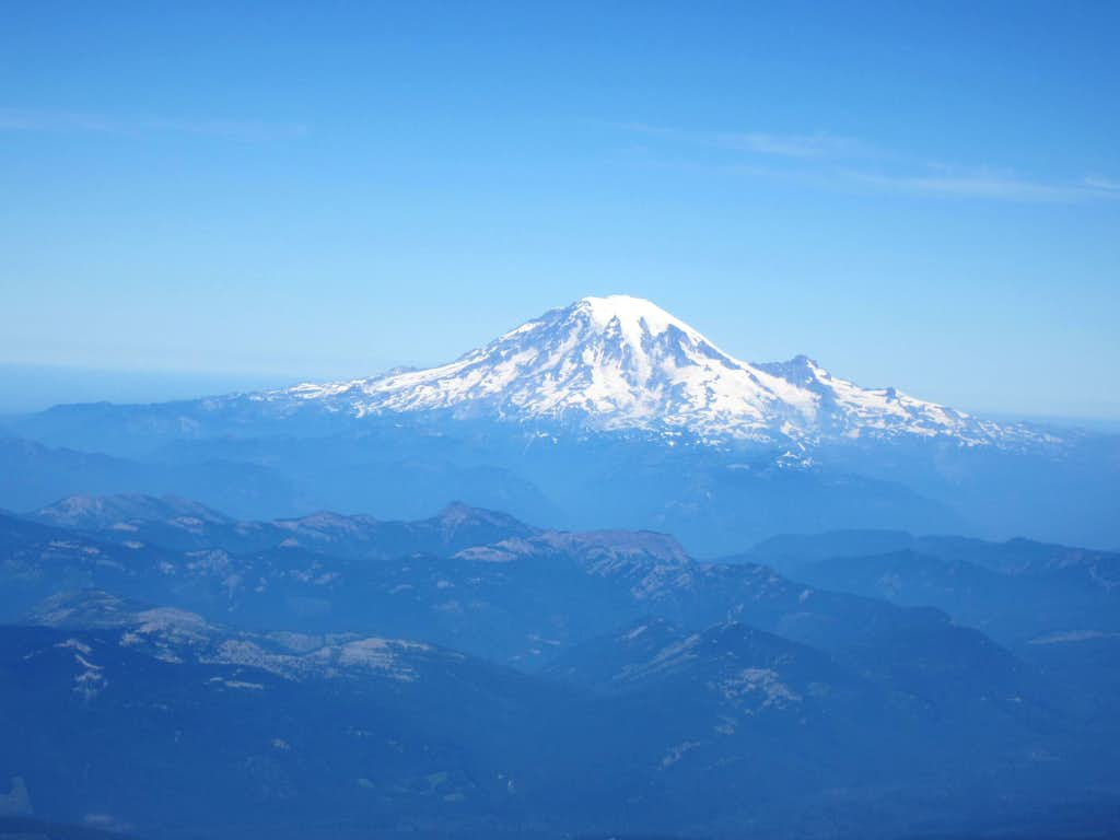 Mt. Rainier from Mt. Adams Summit