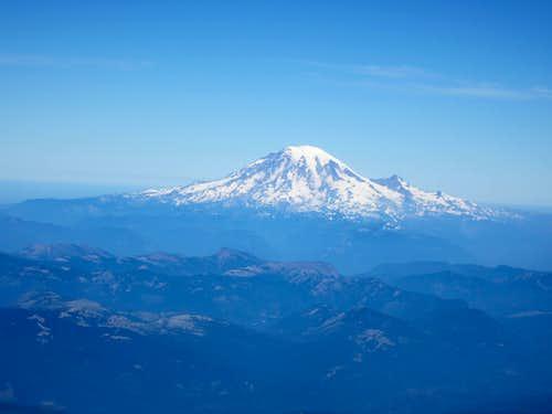 Mt. Rainier from Mt. Adams Summit