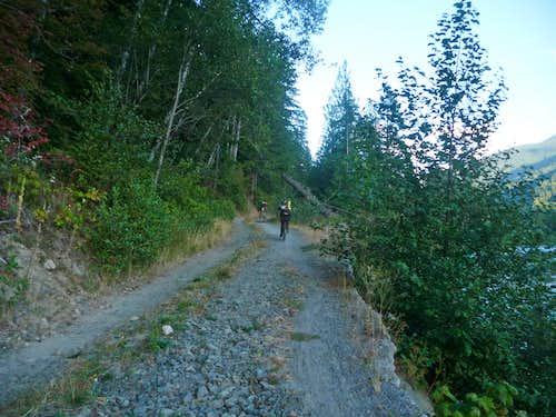 Biking the Suiattle Road