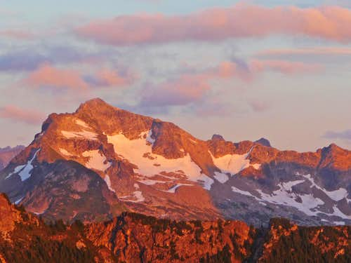 Alpenglow on Bannock Mountain