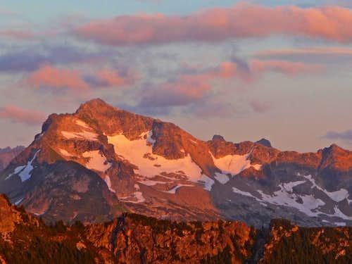 Alpenglow on Bannock Mountain