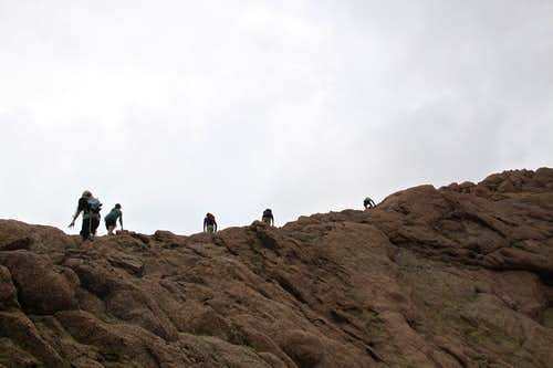 Climbers on North Eolus