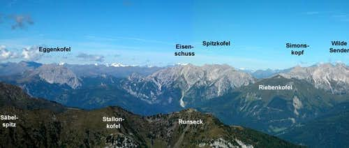 Summit view Rauchkofel:...
