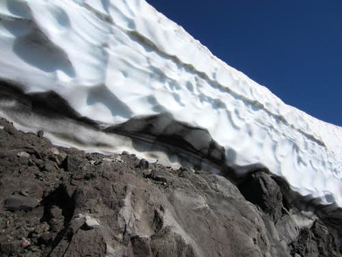 Crevasse on St. Helens