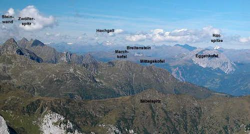 Summit View Rauchkofel across...