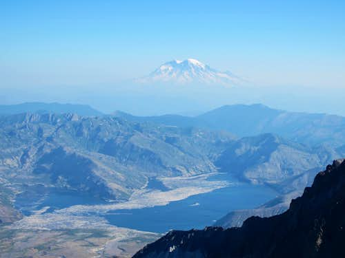 Mt. Rainier and Spirit Lake from St. Helens Summit