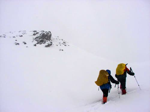 Reaching the col