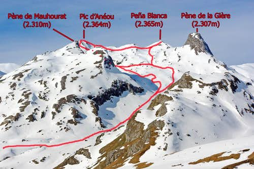 Normal route to Anéou and Peña Blanca