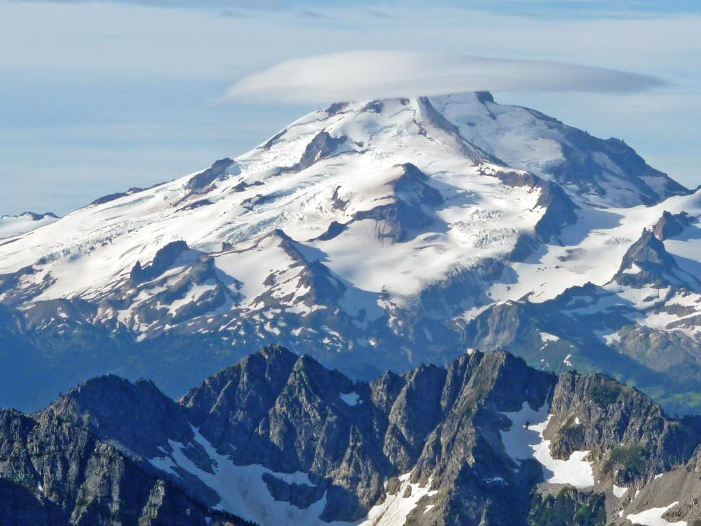 Lenticular Cloud forming over Glacier Peak