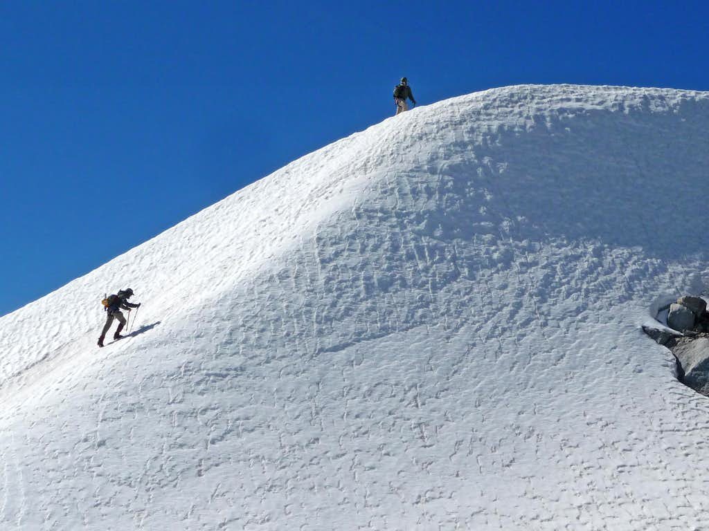 Steep Snow near the Summit
