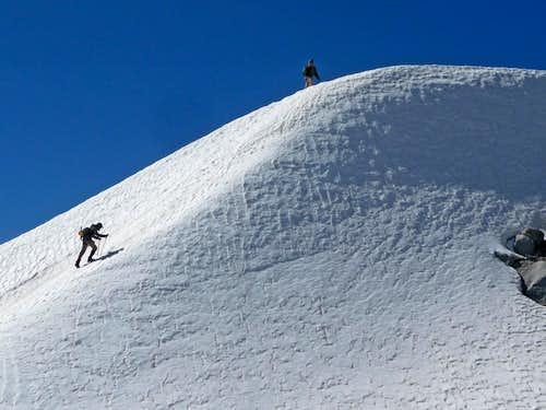 Steep Snow near the Summit