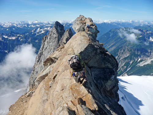 The Summit Ridge of Dome Peak