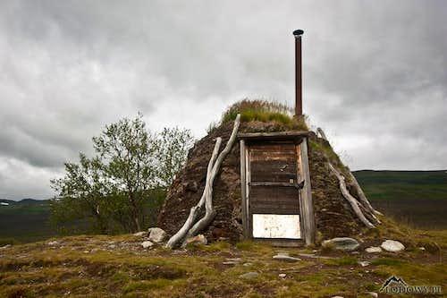 Turf hut in Abisko fells