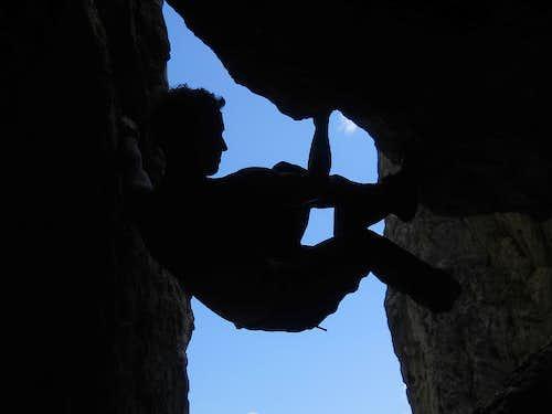 Bouldering in a 'climbing garden'