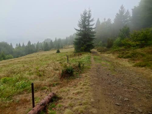 Ridge trail south from Czantoria