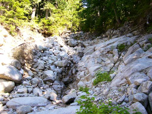 Stream bed on Point 5150 (Ragged Ridge) approach