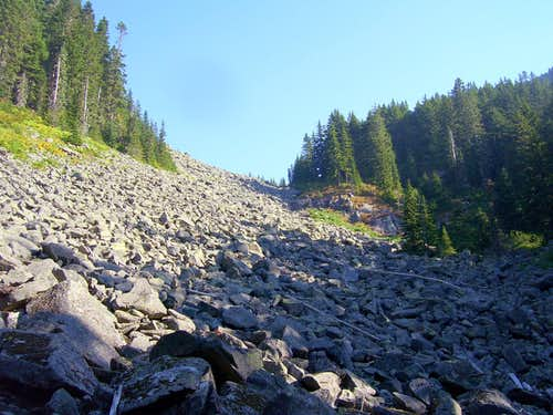 Talus slope on Point 5150 (Ragged Ridge)