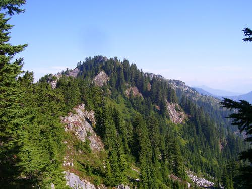 Looking towards summit of Point 5150 (Ragged Ridge) from the south
