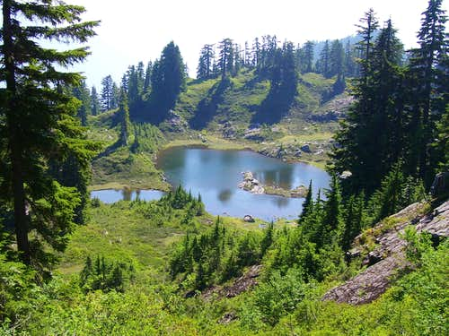 Lake # 3  on Point 5150 (Ragged Ridge) climb