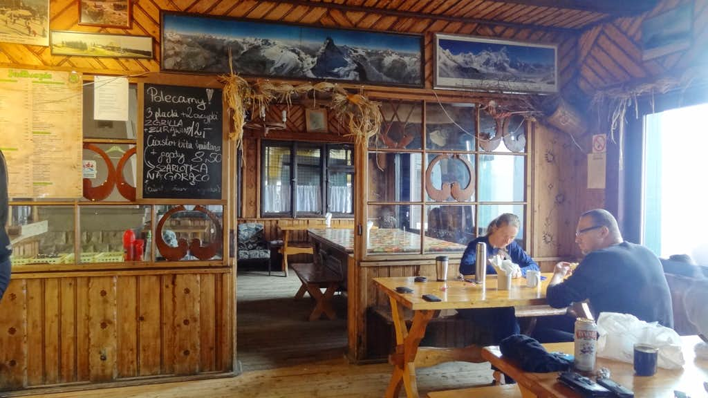 Inside the Mountain hut on top