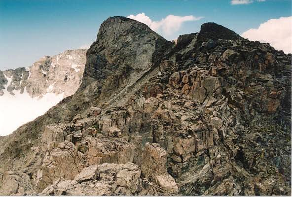 A view of Elk Tooth's summit...