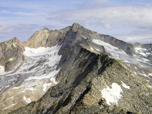 Hochalmspitze from the ridge...