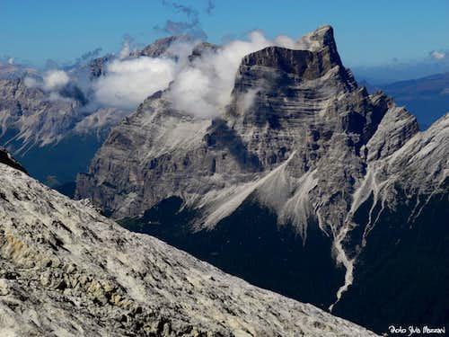 Monte Pelmo seen from the Laste of Antelao