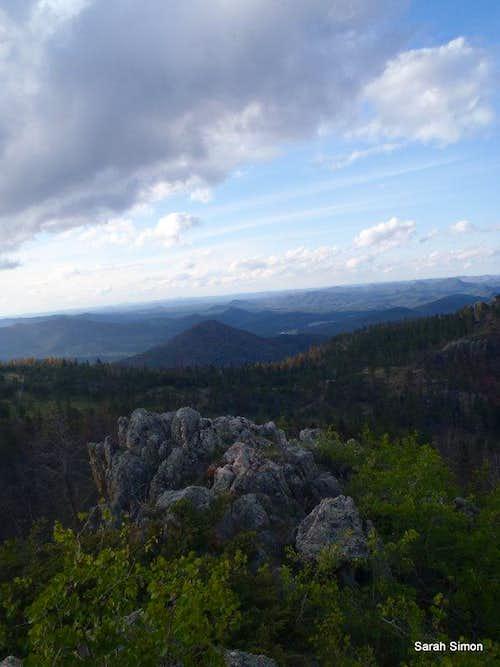 Views over summit rocks