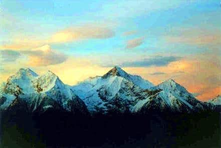 The Mount Emilius in a photo...