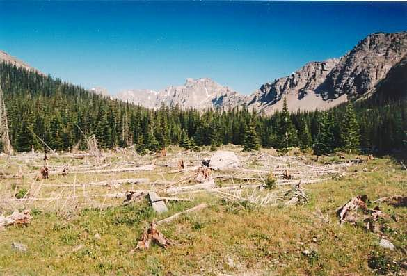 A distant photo of Elk Tooth...
