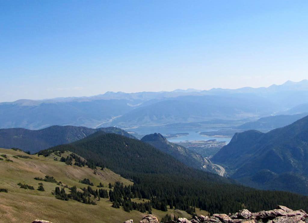 Dillon Lake, Grays & Torreys far right