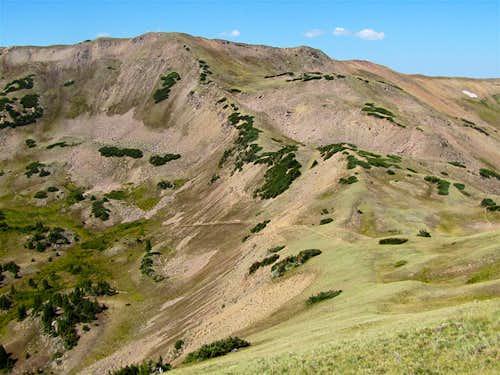 Point 12363 ft, Uneva Pass & Gore Range Trail