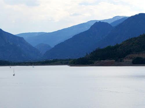 Sneva Peak from Dillon Lake